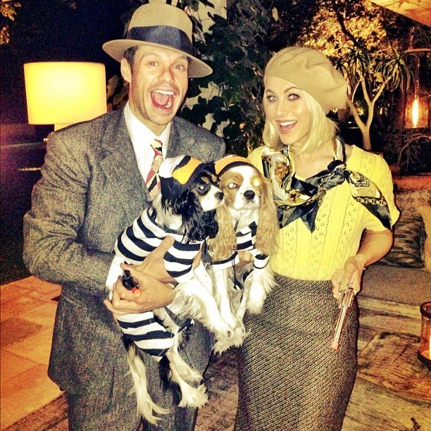 Ryan Seacrest and Julianne Hough were spot-on as Bonnie and Clyde.  Source: Instagram user juleshough