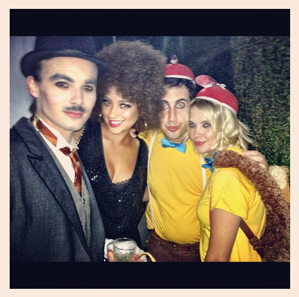 Charlie Chaplin, Foxy Brown, Tweedledee, and Tweedledum