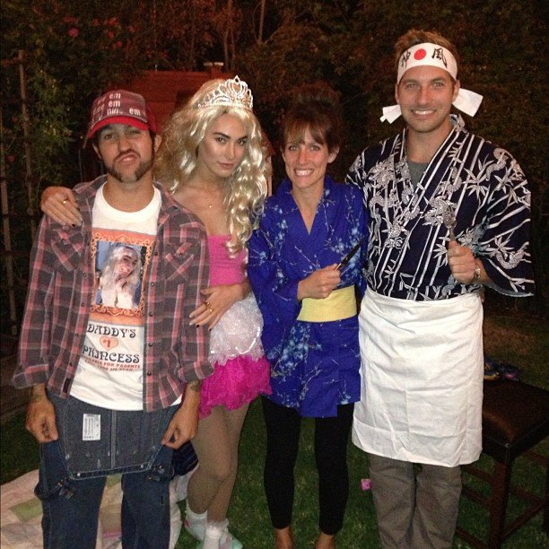 Pete Wentz and his friends gathered in costume for the holiday.  Source: Instagram user petewentz