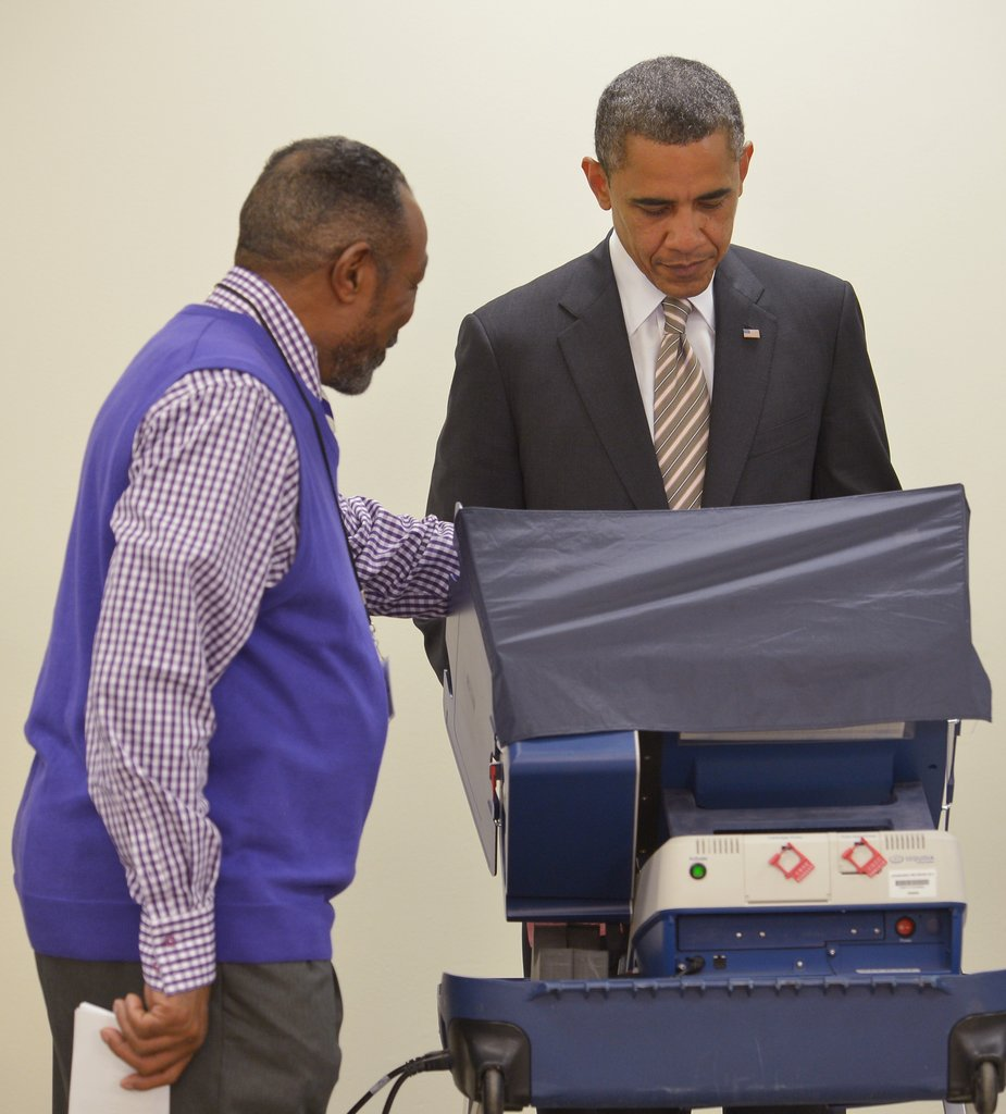 President Obama encouraged early voting by casting his own ballot in Illinois on Oct. 25.