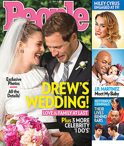 Drew Barrymore and Will Kopelman shared a sweet snap from their June 2012 wedding in Mon