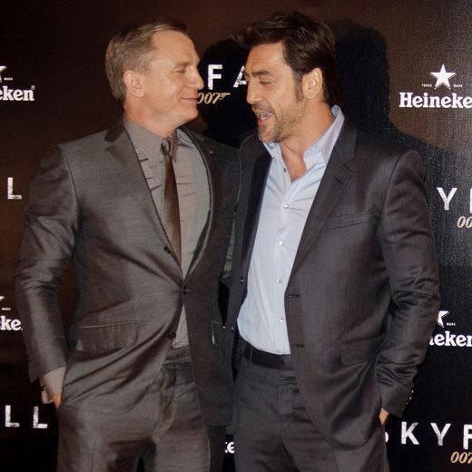 Daniel Craig and Javier Bardem at Skyfall Madrid Photocall
