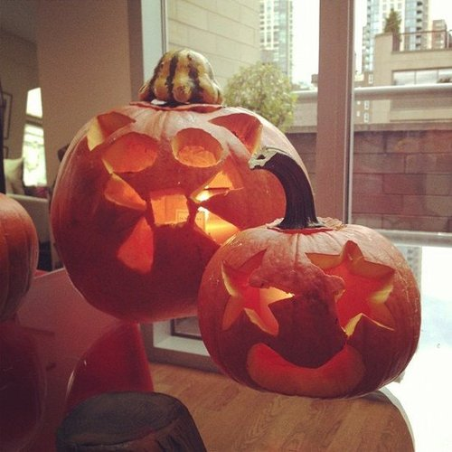 Rachel Roy got creative with pumpkin art while waiting for her power to return in NYC. Source: Instagram user rachel_roy