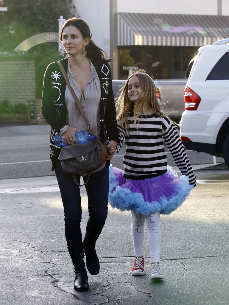 Courteney Cox and Coco Arquette took a stroll around Brentwood on Halloween night.