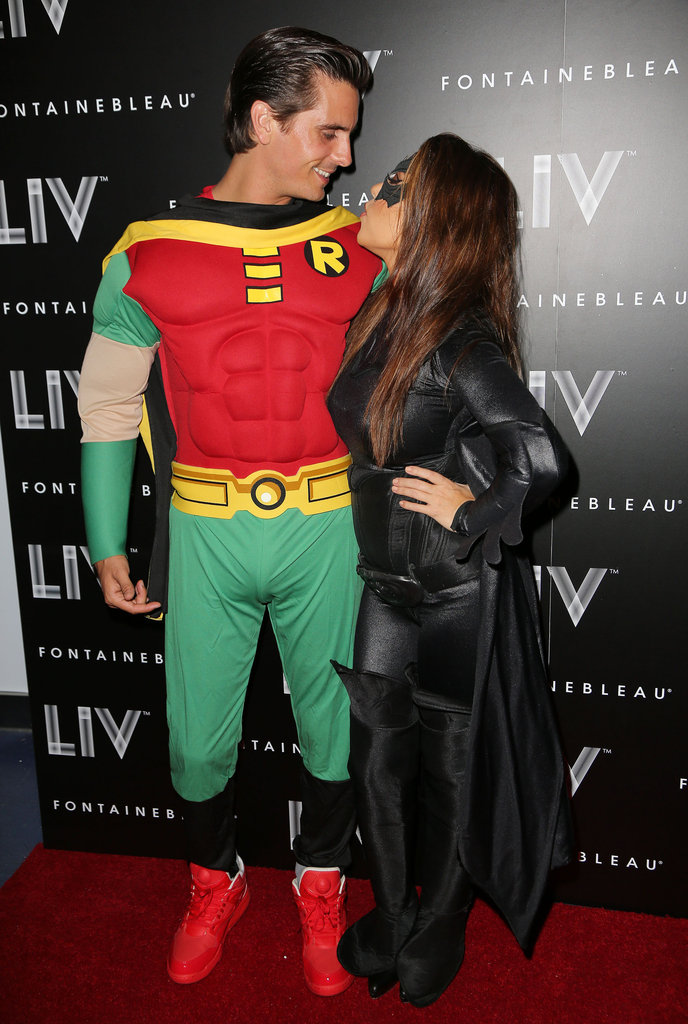 Kourtney Kardashian and Scott Disick went as Batman characters in Miami in 2012.