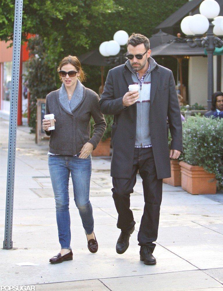 Ben Affleck and Jennifer Garner spent a morning together.