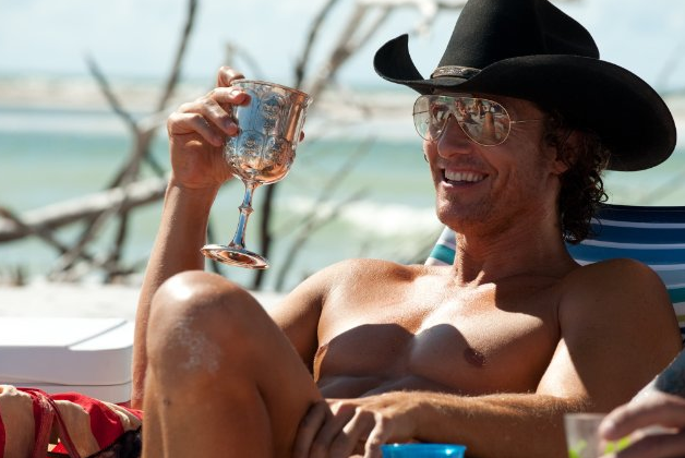 He looked good relaxing for a scene in 2012's Magic Mike.