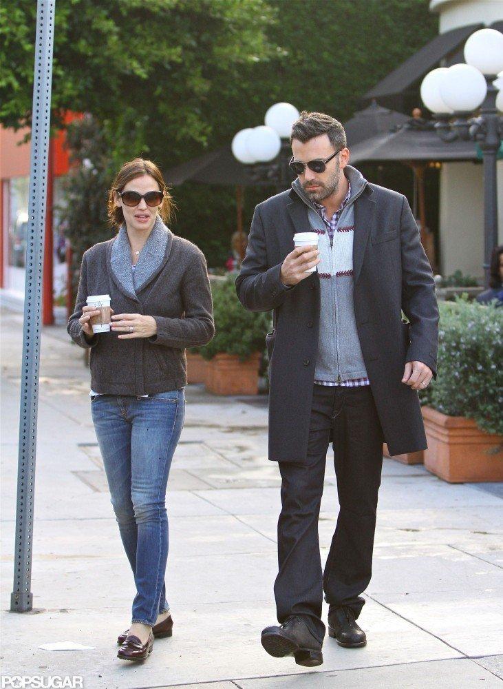 Ben Affleck and Jennifer Garner strolled together.
