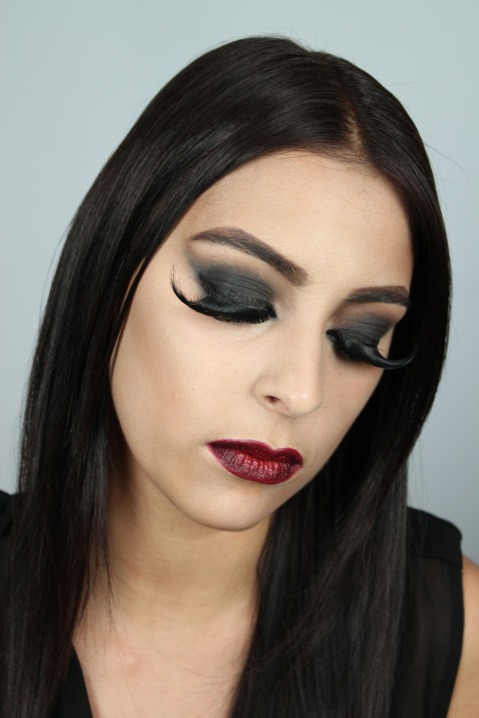 Seeing as though the vampy, red wine lip is a huge beauty look right now, this one is easy to get at home. The eye is very dark and you don't want the eyeshadow to move or crease, so be sure to use primer and finishing powder.