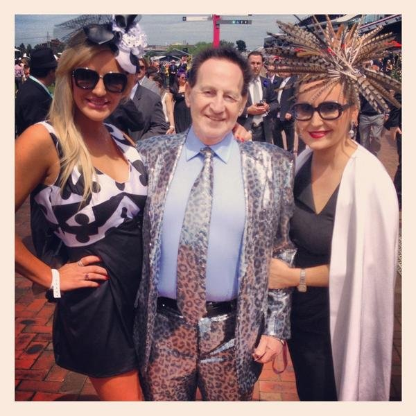 Brynne and Geoffrey Edelsten with Melissa Hoyer. Source: Twitter user melissahoyer