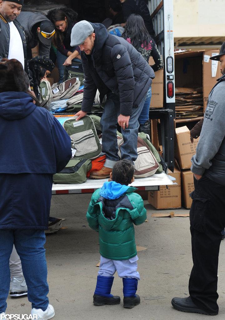 Justin Timberlake volunteered to help victims of Hurricane Sandy.