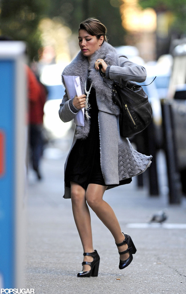 Jessica Biel headed into a meeting in NYC.