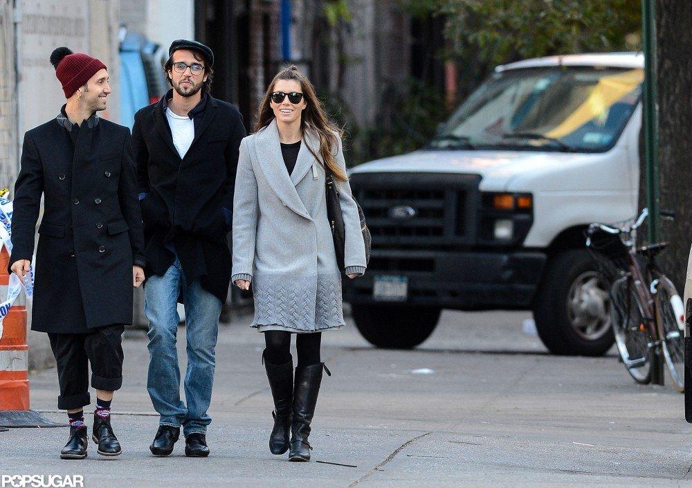 Jessica Biel walked around NYC with friends.