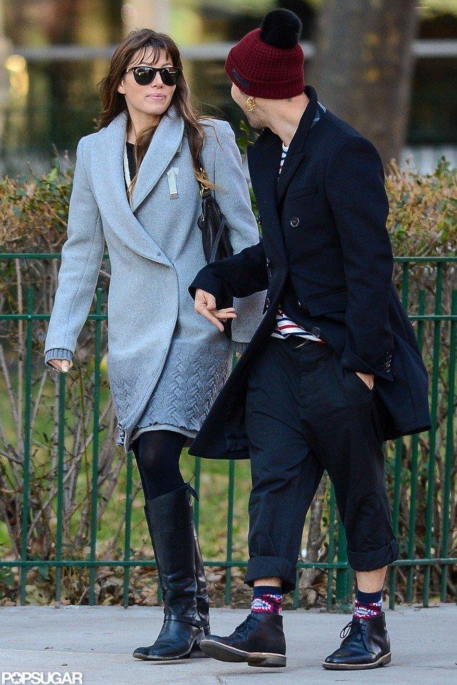 Jessica Biel and her friend took a stroll in NYC.