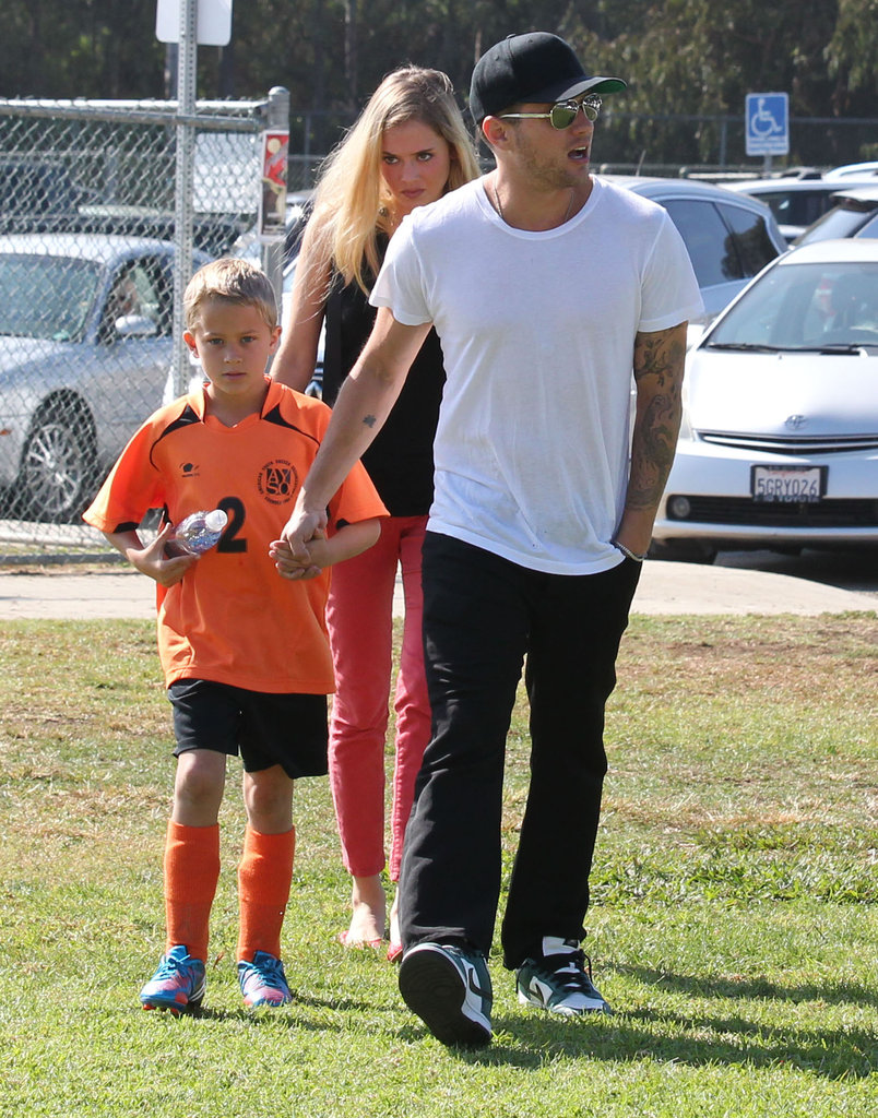 Ryan Phillippe and His Girlfriend Watch Deacon's Weekend Game