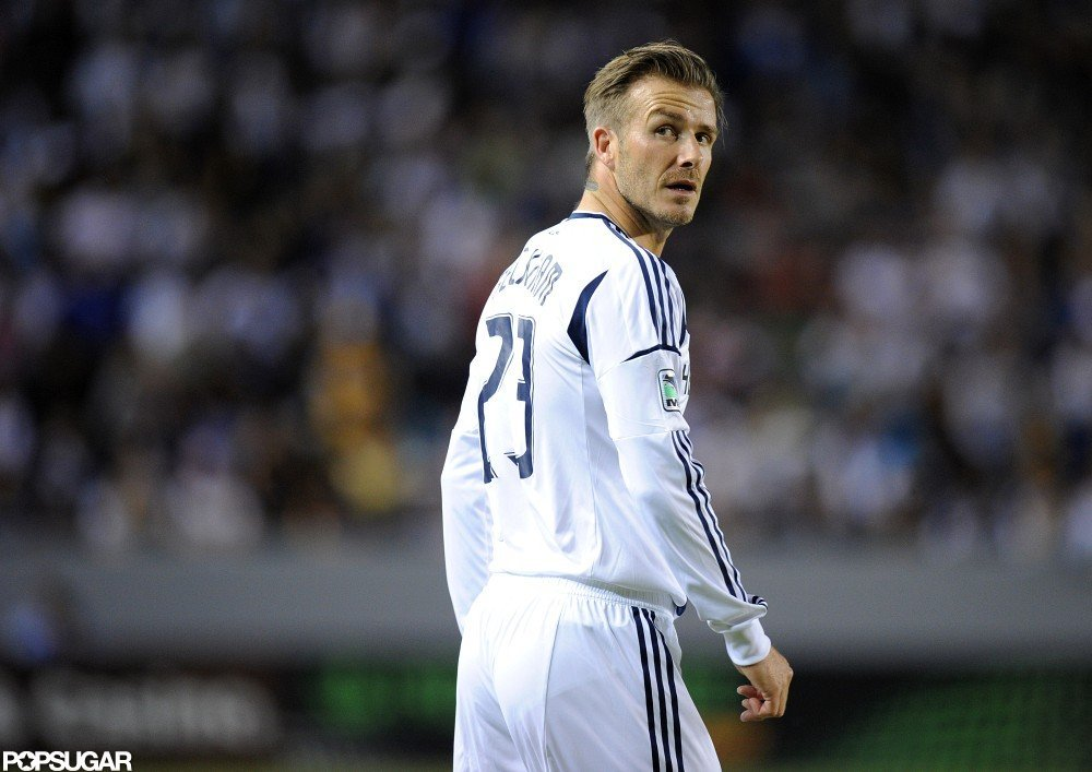 David Beckham took the field for a playoff game in LA.