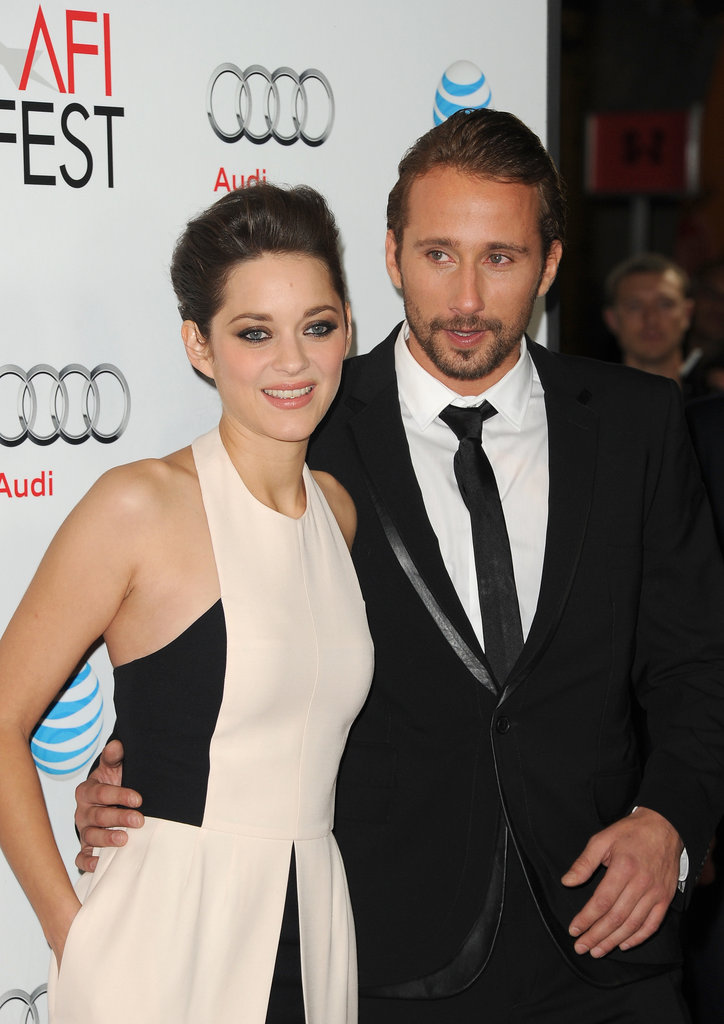 Marion Cotillard and Matthias Schoenaerts paired up for a photo on the red carpet.