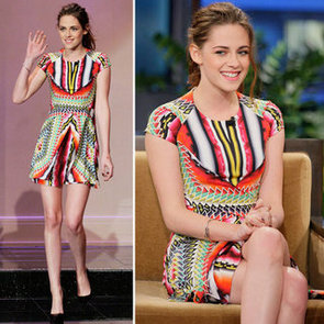 Kristen Stewart in Short + Bright Peter Pilotto Resort 2013!