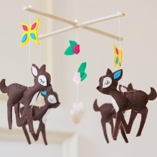 Handmade Felt Mobiles For Babies