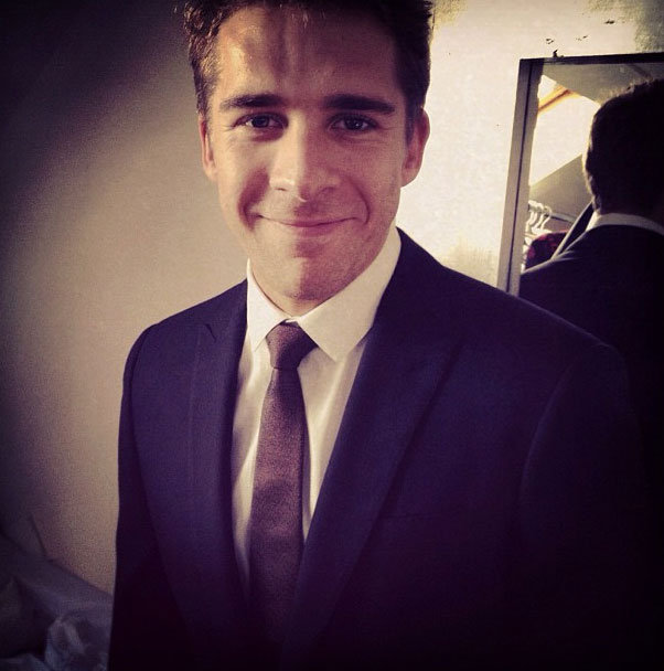 Hugh Sheridan looked sharp thanks to Burberry. Source: Instagram user: @trevorstones