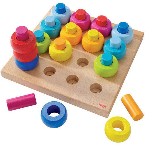 For 2-Year-Olds: HABA's Rainbow Whirls Pegging Game