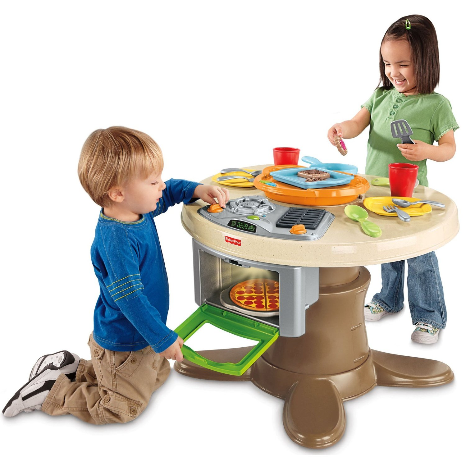 Fisher price servin 39 surprises kitchen table gift for Toy kitchen table