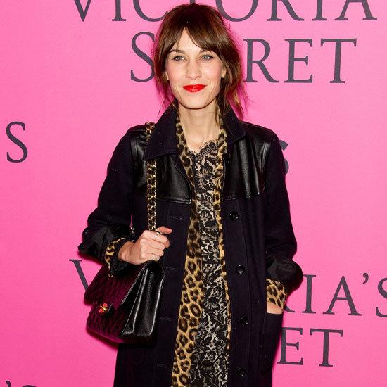 Alexa Chung Wearing Leopard Jacket