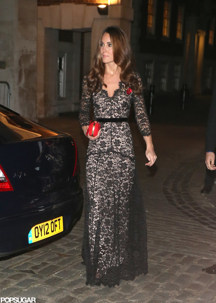 Kate Middleton rewore an Alice Temperley gown.