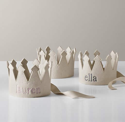Restoration Hardware Baby and Child Wool Felt Crown