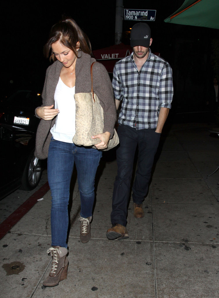 Minka Kelly and Chris Evans got sushi.