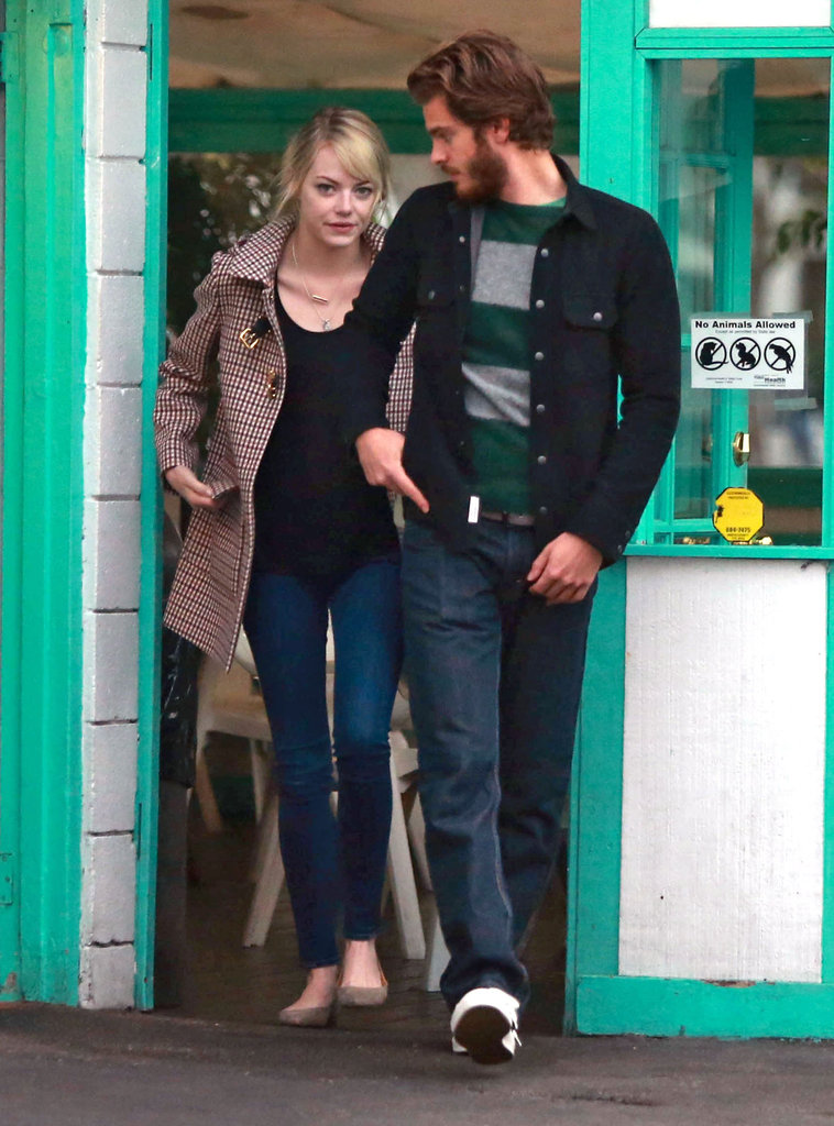 Emma Stone stepped out with Andrew Garfield.