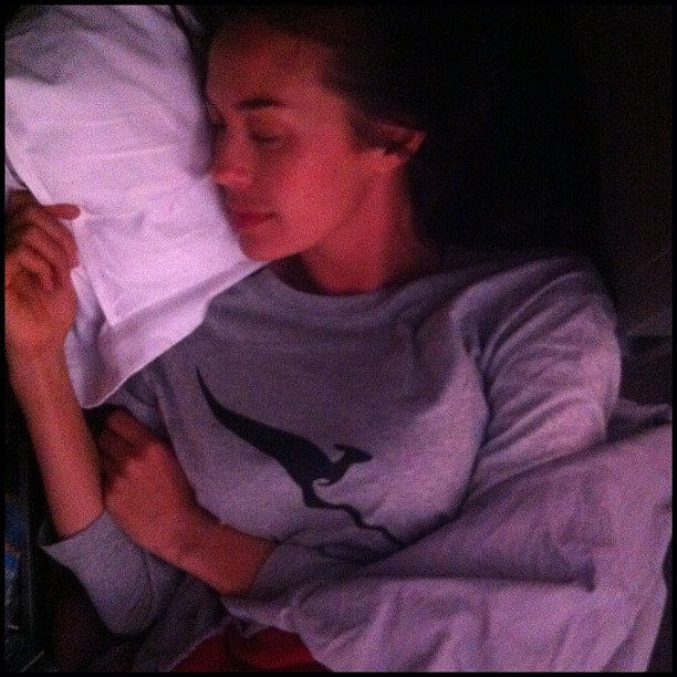 Megan Gale enjoyed a super comfortable flight. Source: Instagram user megankgale