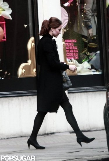 Kate Middleton wore heels at Harvey Nichols.
