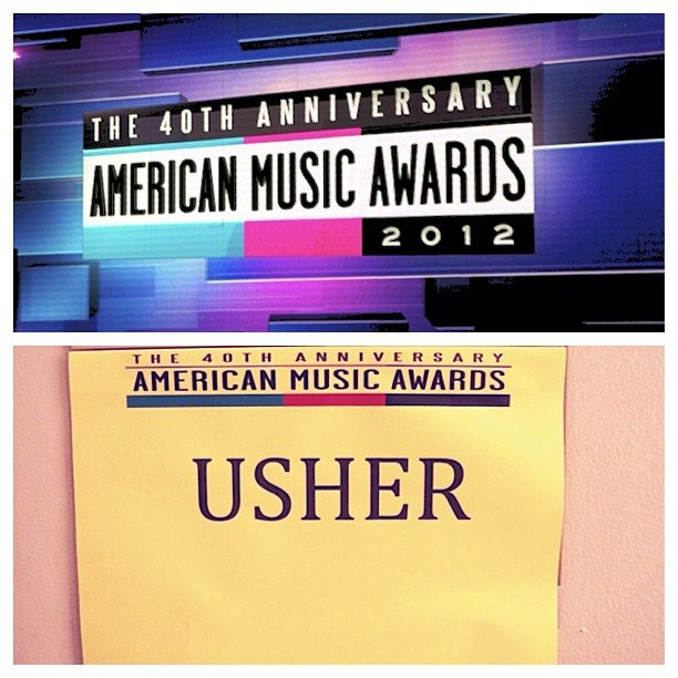 Usher found his dressing room. Source: Instagram user howuseeit