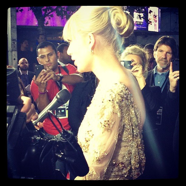 PopSugar US snapped a close-up shot of Taylor Swift's beaded dress. Source: Instagram user popsugar