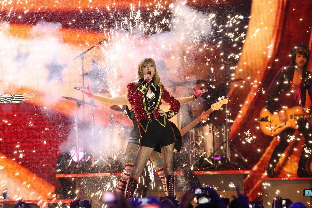 Taylor Swift performed at the awards.