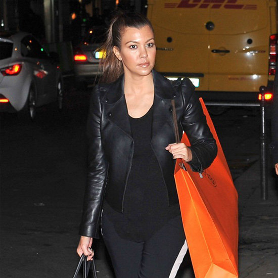 Kourtney Kardashian Wearing Tuxedo Pants