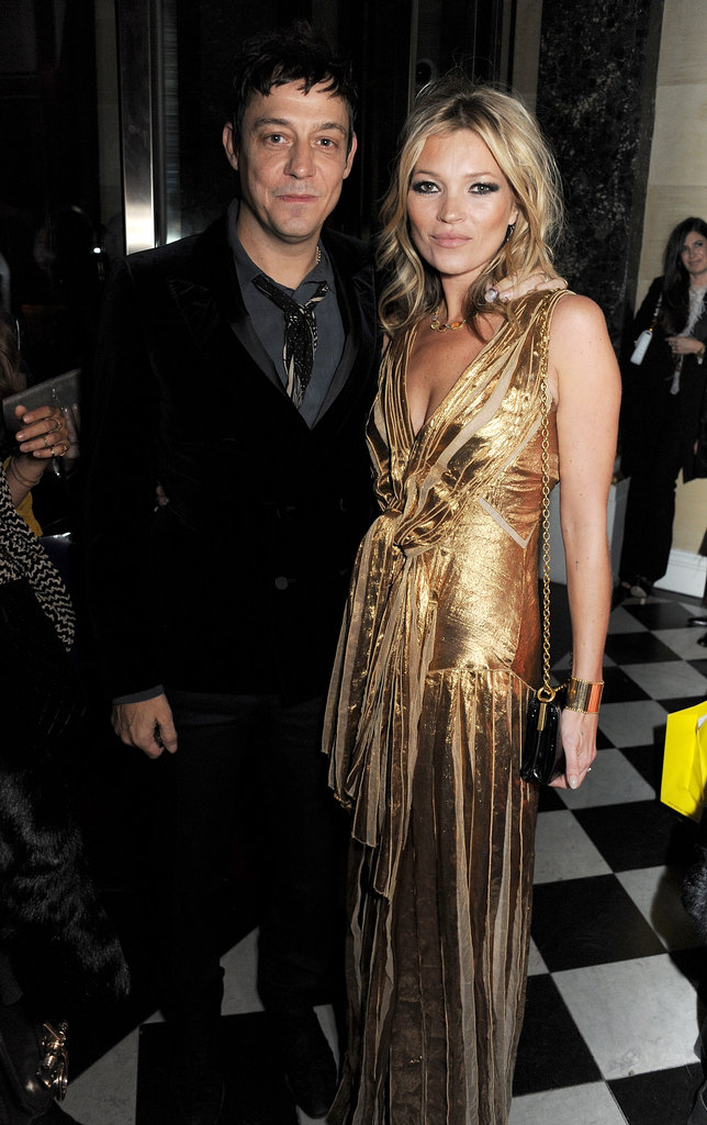 Kate Moss and Jamie Hince posed together during her book-launch party.