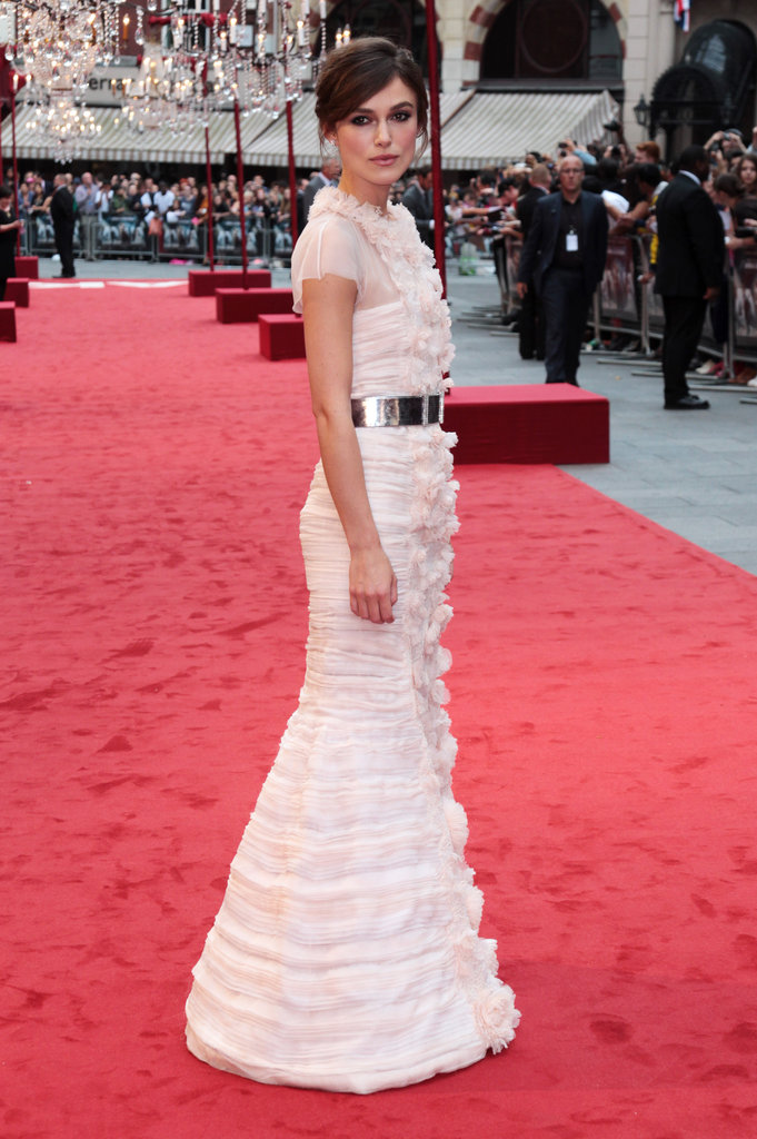 Keira Knightley set the tone for a gorgeous promotional tour in this Chanel gown at the world premiere.