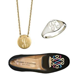 Personalised Monogram Accessories: Bags, Slippers, Jewellery