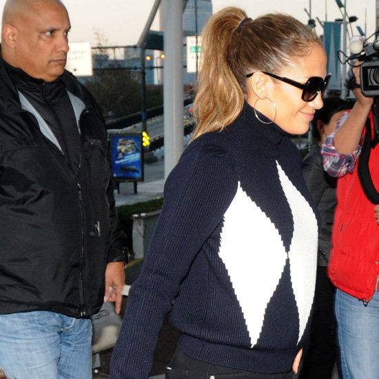 Jennifer Lopez Wearing Argyle Sweater