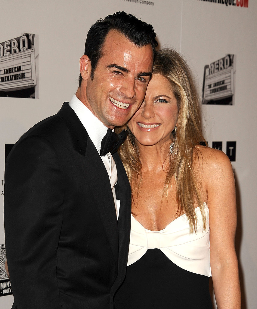 Jennifer Aniston stepped out in LA with fiancé Justin Theroux.