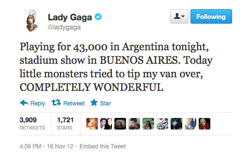 Lady Gaga loves a bit of fan interaction, no matter how scary.