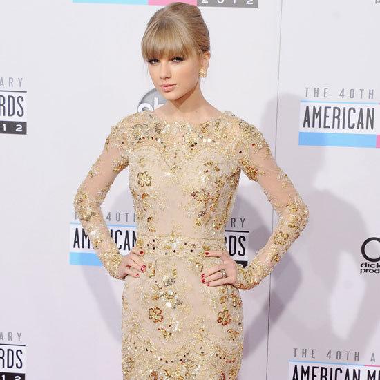 Taylor Swift Wearing Embellished Mini Dress