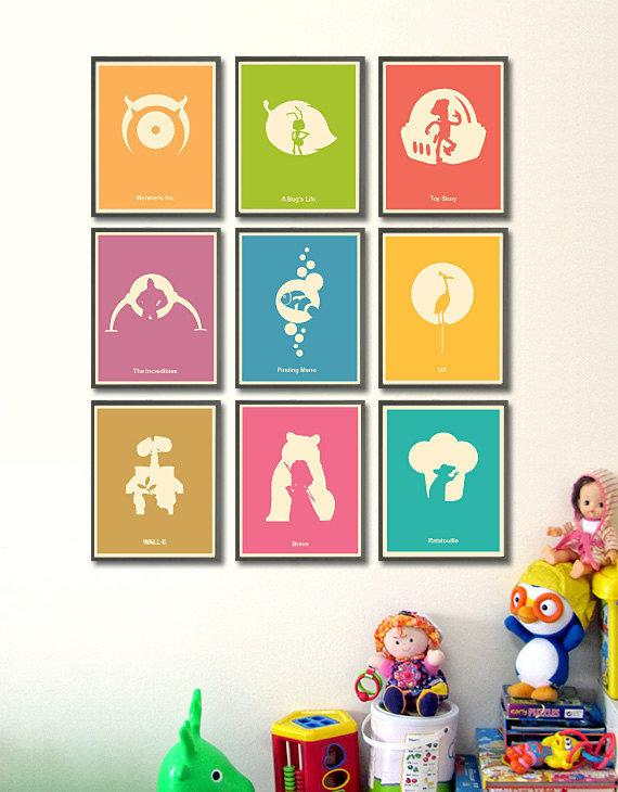 Pixar Minimalist Poster Set