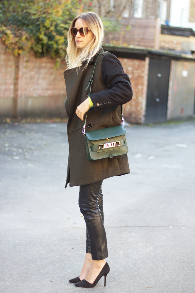 A cool-girl mix that gets a sophisticated twist with pointed-toe pumps. Source: Lookbook.nu