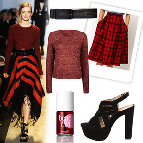 Michael Kors Plaid Skirt Fall 2012