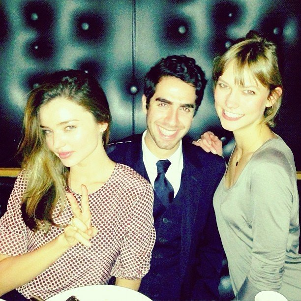 Miranda Kerr and Karlie Kloss hung out with a friend. Source: Instagram user mirandakerrverified