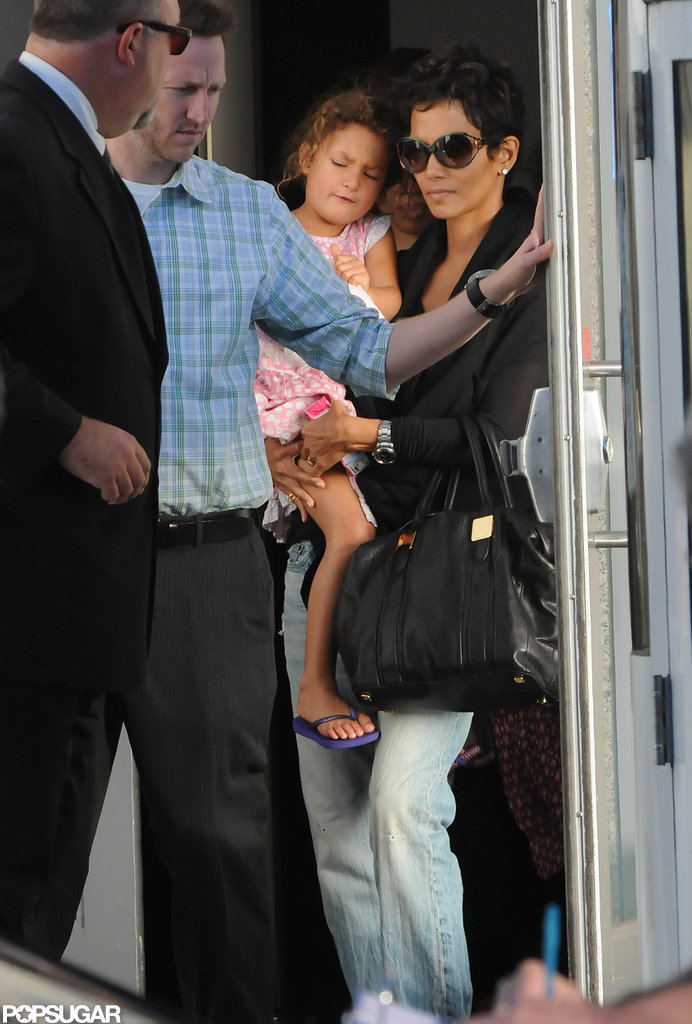 Halle Berry had Nahla in her arms in LA.