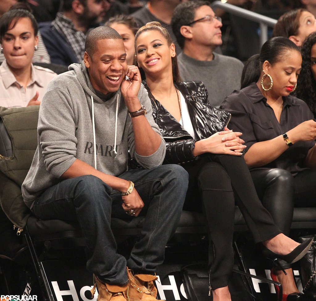 Jay-Z and Beyoncé watched the Brooklyn Nets.